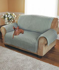 Quilted Twill Furniture Covers  $27.95 Sofa, inexpensive pet friendly option for RV.