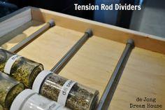 7. #tension Rods - 8 tiroir #bricolage génial #organisateurs... → DIY