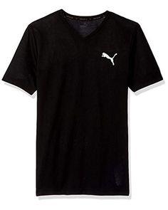 fb6e3964806 PUMA - Black Active V-neck T-shirt for Men - Lyst