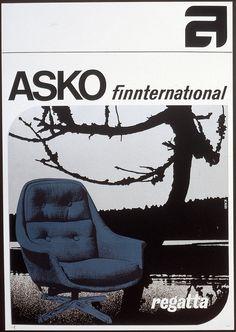 Asko finnternational, Regatta nojatuoli - Askon vanha mainos