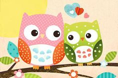 Sweet Owl Poster Hello Poster Großformat - Close Up GmbH