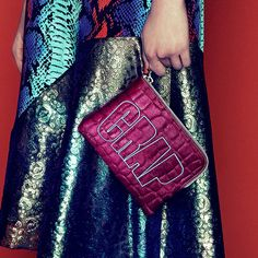 House Of Holland pink Crap clutch bag. www.handbag.com