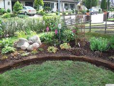 trädgård,rabatt,torvblock,blommor