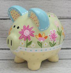 Alcancía personalizado personalizar Hucha cerámica pintada