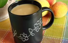 Chalk board coffee mug- I'd be happy to help make some of these.  I've done some wine glasses before