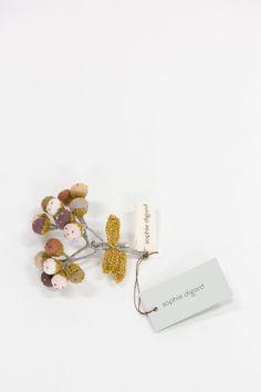 Sophie Digard   Bulbs Brooch   Cinnamon Bulbs, Cinnamon, Appreciation, Delicate, Textiles, Construction, Brooch, Deep, Colour