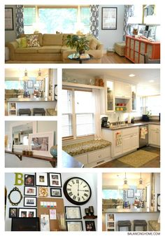 House Tour with links to lots of great DIY projects and simple ways to update your space.