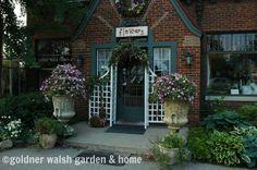 Flower shop at Goldner Walsh in summer.