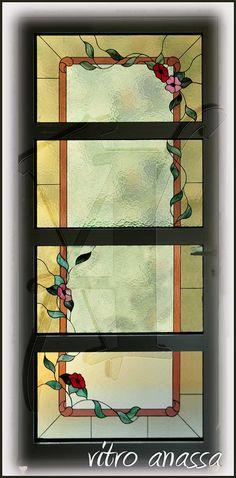 Πόρτες εισόδου/ μπαλκονόπορτες διακοσμημένες με τζάμια βιτρώ. Roman Shades, Curtains, Frame, Home Decor, Picture Frame, Blinds, Decoration Home, Room Decor, Draping