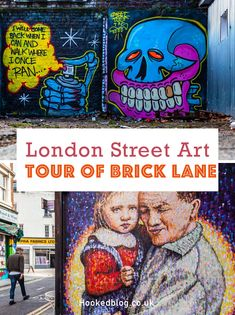 A free self guided London street art tour complete with photographs and a location map to guide you to the best of Brick Lane's street art. #streetart #graffiti Street Mural, French Street, Best Street Art, Brick Lane, Location Map, London Street, Chalk Art, Street Artists