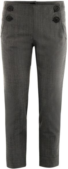 Vivienne Westwood Anglomania Gray Ministripe Galley Trousers