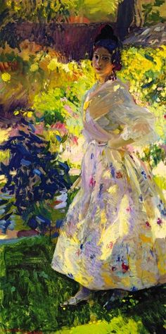 "veareflejos: ""poboh: Joaquin Sorolla y Bastida Spanish Realist, Impressionist Painter - Maria dressed as a Valencian peasant girl. Monet, Art Amour, Spanish Artists, Spanish Painters, Foto Art, Figure Painting, Beautiful Paintings, Female Art, Art History"