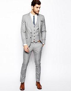 Light Grey Wedding Groom Tuxedos Groomsman Best Man Party Suits Custom Made Grey Tuxedo Wedding, Wedding Suits, Wedding Groom, Mens Fashion Suits, Mens Suits, Light Grey Suit Men, Smoking Gris, Costumes Gris Clair, Terno Slim Fit