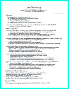 Nice Best College Student Resume Example To Get Job Instantly