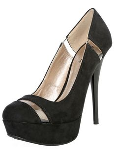 Stiletto Heels with Cutout Accents
