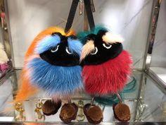 Fendi bag bugs keychains charms