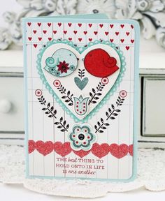 The Best Thing In Life Card by Melissa Phillips for Papertrey Ink (January 2013)