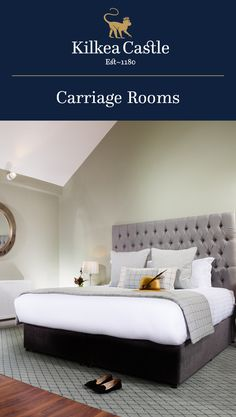 Our Carriage Rooms are modern in style and are completed with marble bathrooms for your comfort. Lodge Bedroom, Castle Bedroom, Castle Hotels In Ireland, Castles In Ireland, Marble Bathrooms, Lodges, Bedrooms, Luxury, Modern