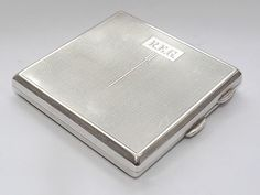 ART DECO WALKER & HALL 131 GRAMS SOLID STERLING SILVER CIGARETTE CASE-B/HAM 1934