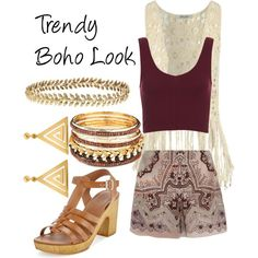 Trendy Boho Look by snowflake1025 on Polyvore featuring polyvore fashion style Topshop Etro ChloBo Ellen Hunter