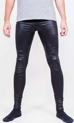 Skinny jeans and other tight legwear. Mens Leather Pants, Tight Leather Pants, Latex Men, Superenge Jeans, Big Men Fashion, Mens Tights, Hommes Sexy, Super Skinny Jeans, Mens Clothing Styles