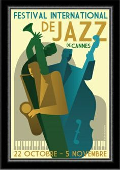 1930's Cannes Jazz Festival Poster