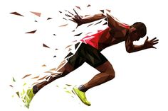 runner athlete sprint start explosive run vector illustration - Buy this stock vector and explore similar vectors at Adobe Stock Ab Workout At Home, At Home Workouts, Ab Workouts, Sports Graphic Design, Creative Background, Amazing Adventures, Graphic Design Illustration, People Illustration, Illustrations