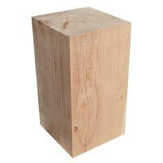 Cube chêne, L 24 x P 24 cm Ep.450 mm