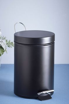 Buy Pedal Bin from the Next UK online shop Contemporary Toilets, Contemporary Style, Black Bin, Bathroom Bin, Bathrooms, Fabric Drawers, Circular Mirror, Magnifying Mirror, Downstairs Toilet