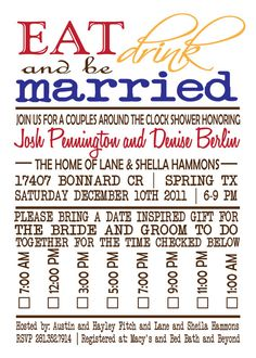 Couples Shower Invitation Idea - Esty