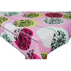 Amalfi Pink Vinyl Oilcloth Tablecloth
