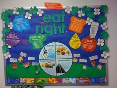 This bulletin board was created for health department staff in March (Nutrition Month) to remind them about the benefits of healthy eating. Nutrition Poster, Sport Nutrition, Kids Nutrition, Nutrition Tips, Health And Nutrition, Nutrition Pyramid, Nutrition Tracker, Cheese Nutrition, Nutrition Quotes
