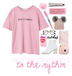 """""""we're clhained to the rythmh   hacked by ada"""" by never-gxnna-be-perfect ❤ liked on Polyvore featuring art"""