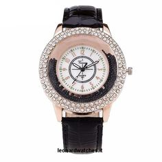 Women Rhinestone Leather Strap Quartz Watch  Case Shape:  Round    Band Material Type:  Leather    Dial Diameter:  43mm    Feature:  Water Resistant    Case Thickness:  10mm    Clasp Type:  Buckle    Band Width:  19mm    Case Material:  Stainless Steel    Boxes & Cases Material:  No package    Movement:  Quartz    Band Length:  24cm  http://www.leonardwatches.it/products/women-rhinestone-leather-strap-quartz-watch