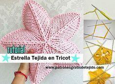Cómo tejer la estrella con agujas o palitos / Tutoriales | Crochet y Dos agujas - Patrones de tejido