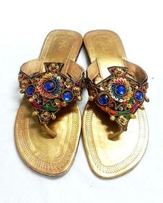 Boho Gypsy bead Rhinestone ethnic Thai ring toe flip-flops Thongs Sandals 7 EU38