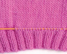 How to Knit Pockets - Craftfoxes Knitting Paterns, Knit Patterns, Knitting Projects, Baby Knitting, Sewing Patterns, Knit Crochet, Crafts, Knitting Tutorials, How To Knit
