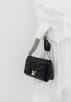 Inside the Louis Vuitton Series 2 Exhibition Accessories Gallery: the new GO-14 handbag in black Malletage leather #LVSeries2