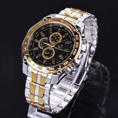 Luxury Watches Stainless Steel Sport Analog Quartz Men'S Wrist Watch Cybd