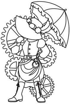 Sinbonnet Sue - Steampunk design (UTH2230) from UrbanThreads.com