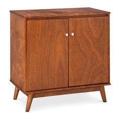 Mid Century Modern Storage Cabinet - Brown