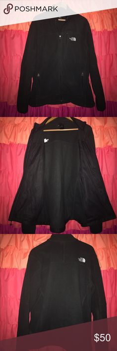 Men's Large North Face Full Zip Fleece in Black Large men's fleece jacket, very warm and well-made. Only worn a few times. Perfect condition. No tears, holes, stains or fading. A closet staple. Make an offer! The North Face Jackets & Coats