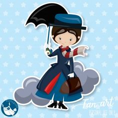 Adorable Mary Poppins clipart Freebie, perfect for birthday party themes. Diy Crafts For Teen Girls, Crafts For Teens To Make, Kids Diy, Kids Crafts, Rock Painting Ideas Easy, Rock Painting Designs, Mary Poppins, Bear Clipart, Disney Silhouettes