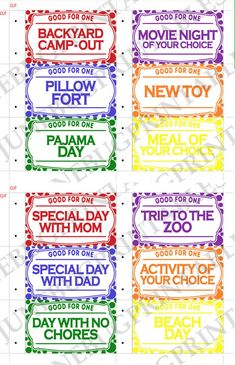 Printable Kids Coupon Book, Kids Valentine Reward Coupons, DIY Valentine Present, Good Behaviour Coupon, Children Last Minute Birthday Gift - Printable Kids Coupon Book Kids Holiday Reward Coupons DIY Behavior Coupons, Chore Rewards, Kids Rewards, Reward Coupons, Kids Behavior, Free Rewards, Behavior Charts For Kids, Behavior Board, Kids Charts