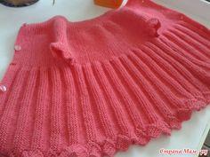 Платье-жакетик для девочки. Вяжем вместе.