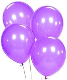 "Amazon.com: Custom, Fun & Cool {Big Large Size 12"" Inch} 10 Pack of Helium & Air Latex Rubber Balloons w/ Modern Simple Celebration Party Special Event Decor Design [In Bright Purple]: Toys & Games"