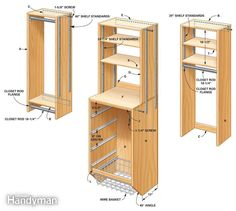 DIY Closet Systems Plans | Storage: How to Triple Your Closet Storage  Space: The