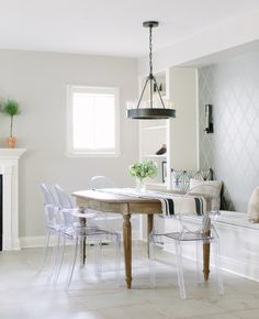 Willow Residence Kitchen Ghost Chairs