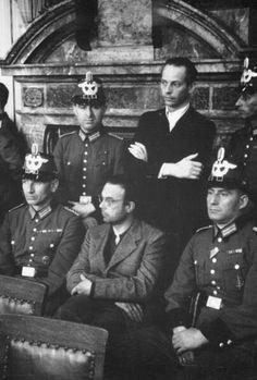 Peter Yorck von Wartenburg während des Prozesses vor dem Volksgerichtshof.