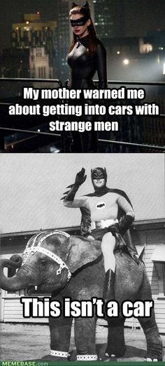 Honestly, I would ride off on anything with Batman. No pickiness from me here!